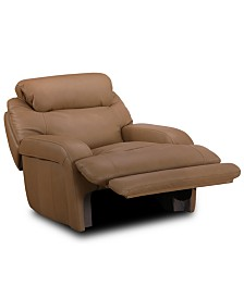 Daventry Leather Power Recliner with Power Headrest & USB Power Outlet