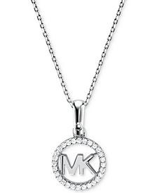 Women's Custom Kors Sterling Silver Logo Starter Necklace