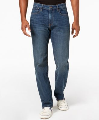 Tommy Hilfiger Mens Cropped Relaxed Fit Jean