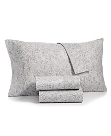 Bari 4-Pc. Paisley Printed Queen Sheet Set, 350 Thread Count Cotton Blend