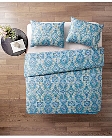 VCNY Home Ora 3-Pc. Full/Queen Damask Quilt Set