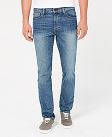 Men's Straight Fit Stretch Jeans, Created for Macy's
