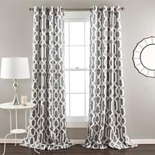 "Edward Trellis Room Darkening 52"" x 84"" Window Curtain Set"