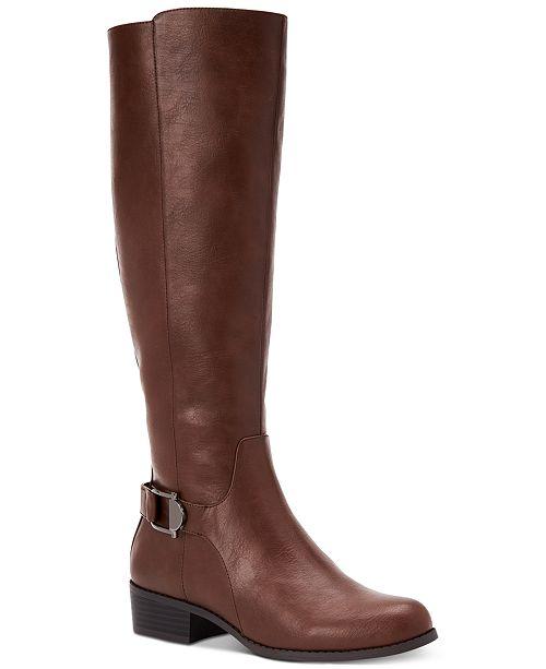 Alfani Women's Step 'N Flex Kallumm Wide-Calf Boots, Created for Macy's