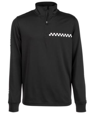 Ideology Big Boys QuarterZip CheckGraphic Jacket Created for Macys