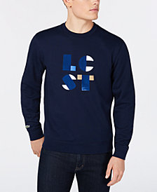 Lacoste Men's LCST Flocked Logo Fleece Sweatshirt