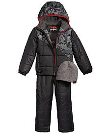 RM 1958 Little Boys Snowsuit & Hat Set