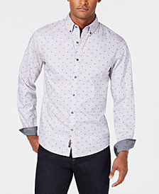 Michael Kors Men's Slim-Fit Abstract Flag Shirt, Created for Macy's