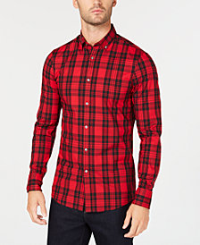 Michael Kors Men's Slim-Fit Plaid Shirt, Created for Macy's