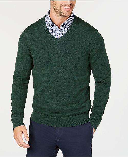 5330be6a96a417 Michael Kors Men's Classic V-Neck Sweater & Reviews - Sweaters - Men ...
