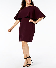 Calvin Klein Plus Size Tiered Dress