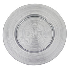 Metallic Silver 13 Inch Charger