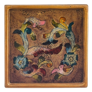 4-Piece Baroque Sand 4 Inch Coaster Set