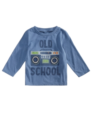 First Impressions Baby Boys Cotton Long Sleeve GraphicPrint TShirt Created for Macys