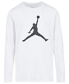 Jordan Little Boys Speckled Jumpman Graphic Cotton T-Shirt