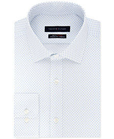 Tommy Hilfiger Men's Fitted TH Flex Collar Performance Stretch Print Dress Shirt
