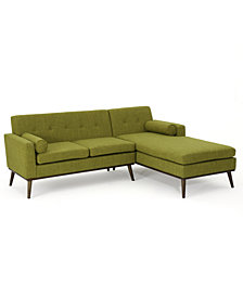 Lydia 2-Pc. Sectional Sofa Set, Quick Ship