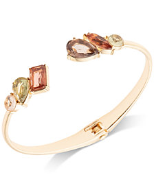 Anne Klein Gold-Tone Stone Cuff Bracelet