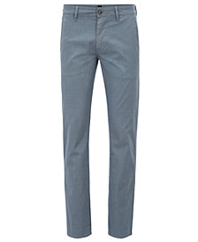 BOSS Men's Slim-Fit Micro-Pattern Chino Pants