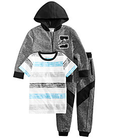 Epic Threads Little Boys Neptune Striped T-Shirt, Varsity Hoodie & Jogger Pants, Created for Macy's