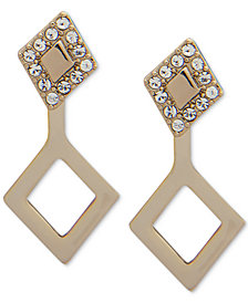 Ivanka Trump Gold-Tone Crystal & Link Ear Jacket Earrings