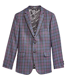DNKY Big Boys Plaid-Print Jacket