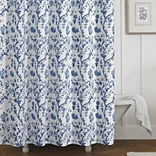 Charlotte Blue Shower Curtain