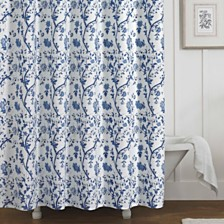 Laura Ashley Charlotte Blue Shower Curtain