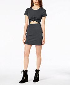 Socialite Juniors Tie-Front Cutout Dress
