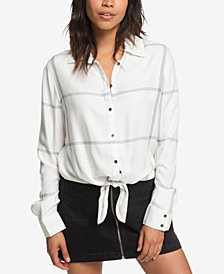 Roxy Juniors' Suburb Vibes Striped Shirt