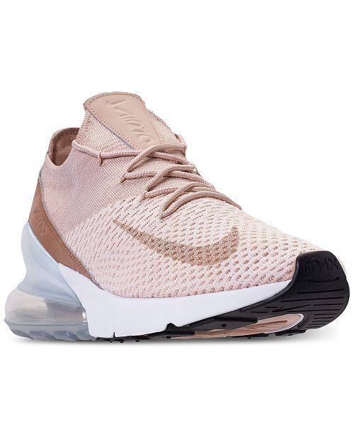 Nike Women's Air Max 270 Flyknit Casual Sneakers from Finish