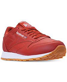 Reebok Men's CL Leather MU Casual Sneakers from Finish Line