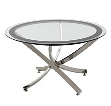 Yorkville Modern Glass Top Coffee Table