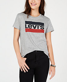 Levi's® Perfect Graphic Logo T-Shirt, Created for Macy's