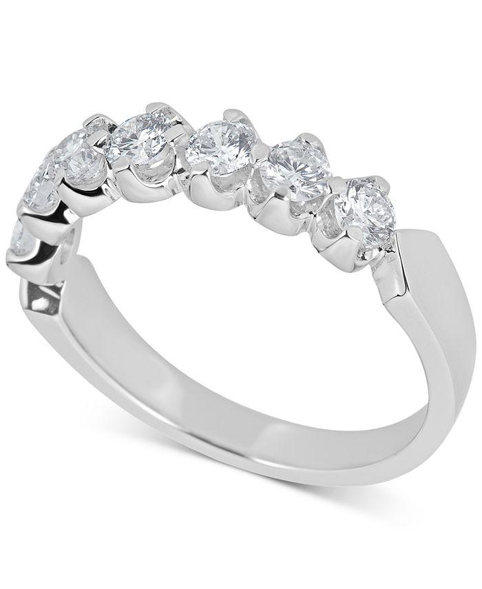 Macy's - Certified Diamond Scalloped Ring (1 ct. t.w.) in 14k White Gold