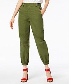 Waisted Olive Parachute Pants