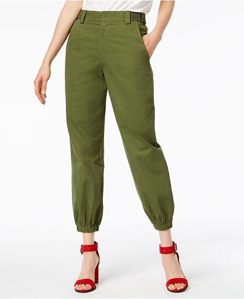 7fc30afa5c34 Waisted Olive Parachute Pants   Reviews - Leggings   Pants - Juniors ...