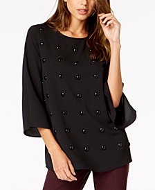 Alfani Studded Top, Created for Macy's