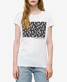 Calvin Klein Jeans Floral-Graphic Logo T-shirt