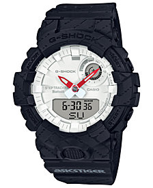 G-Shock Men's Analog-Digital Limited Edition    Asics Tiger Black Resin Strap Step Tracker Watch 48.6mm