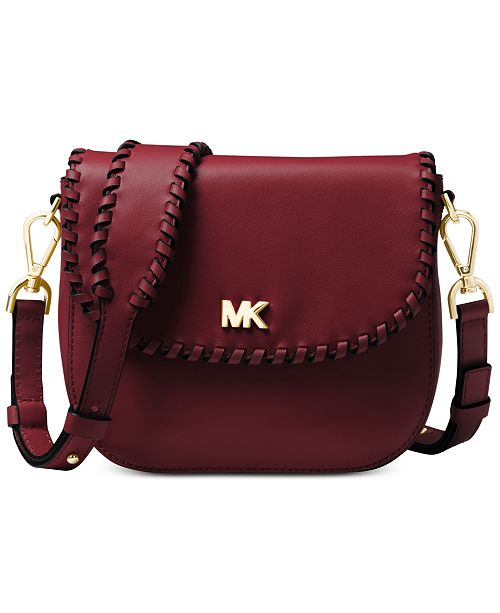 37212d9b5995 Michael Kors Half Dome Stitched Leather Crossbody   Reviews ...