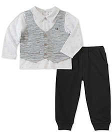 Calvin Klein Baby Boys 2-Pc. Vest Shirt & Pants Set