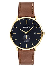 LIMITED EDITION  Men's Swiss Heritage Series Calendoplan Brown Leather Strap Watch 40mm, Created for Macy's - A Limited Edition
