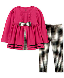 Kids Headquarters Baby Girls 2-Pc. Ruffle Tunic & Checked Leggings Set