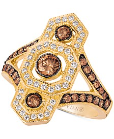 Chocolate Deco™ Diamond Ring (1 ct. t.w.) in 14k Gold