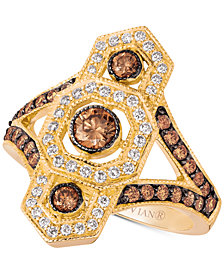 Le Vian Chocolate Deco™ Diamond Ring (1 ct. t.w.) in 14k Gold