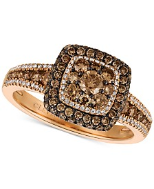 Le Vian Chocolatier® Diamond Statement Ring (1 ct. t.w.) in 14k Rose Gold