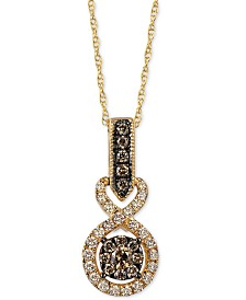 "Le Vian Chocolatier® Diamond 18"" Pendant Necklace (3/8 ct. t.w.) in 14k Gold"