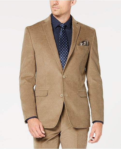 Bar III Mens Slim-Fit Stretch Corduroy Sport Coat