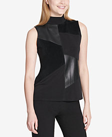 Calvin Klein Mixed-Media Top